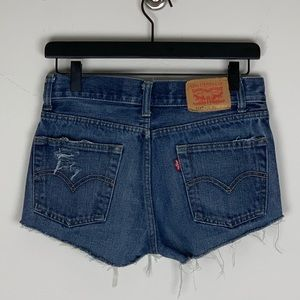 Distressed Levi's Shorts
